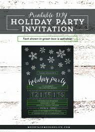 diy holiday party invitation mountainmodernlife com