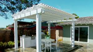 Large Pergola Designs by Exterior Dark Grey Iron Pergola With Sliding Canvas Covers Over