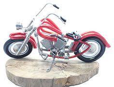 handmade harley davidson aluminium wire sculpture motorcycle