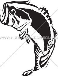large mouth bass jumping production ready artwork for t shirt