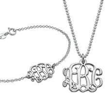 Monogrammed Necklace Monogram Necklace Pendant Monogram Pendant Necklace Monogram
