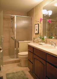 mirror without frame gray wall paint glass shower cabin shower