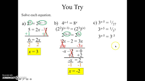 algebra 2 exponential and logarithmic equations 7 5