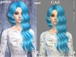 sims 4 blue hair sintikliasims sintiklia hair marmelade