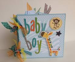 personalized scrapbook scrapbook mini album baby boy premade personalized scrapbook