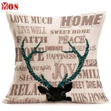decor exquisite deer pillow immaculate stag head pillows