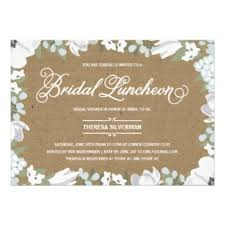 bridal shower luncheon invitations bridal shower luncheon invitations announcements zazzle