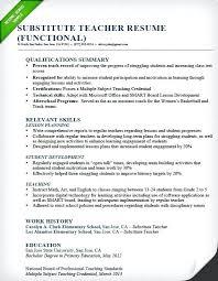 sample career summary resume professional summary sample substitute teacher resume