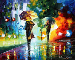 paint dream dreams of the rain palette knife oil painting on canvas by