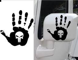 jeep wave sticker amazon com punisher jeep wave hand black premium decal 5