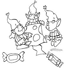 Comptine Noël Petits lutins dépêchezvoust Coloriage pour les