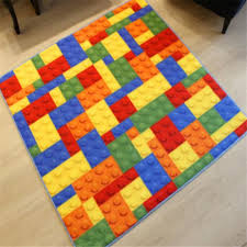 Children S Room Rugs Aliexpress Com Buy New Creative Building Block Colourful Puzzle