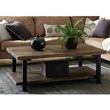 rustic trunk coffee table with hand carved wood storage for