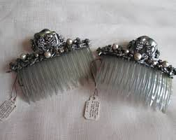 vintage hair combs antique hair comb etsy