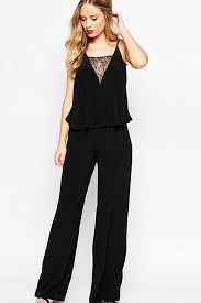 black sleeveless jumpsuit black v neck lace detail sleeveless jumpsuit rompers and