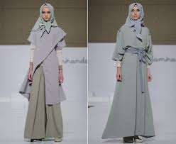 desain baju jepang foto bergaya seperti wanita jepang dengan busana muslim terbaru ria