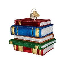 book ornaments for tree