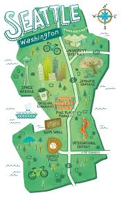 Seattle District Map by Smallbizsalute On Behance