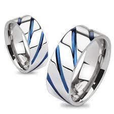 blue titanium wedding band matching titanium wedding bands for him and 925express