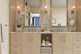 Mirror Wall Sconces For Candles Bathroom Contemporary With - Bathroom mirrors for double vanity