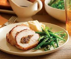 dried apricot date stuffed turkey breast with marsala glaze