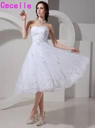 Informal Wedding Dresses 2017 Short White Informal Wedding Dresses Knee Length Sweetheart