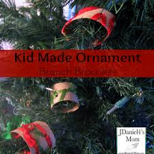 kid made ornament branch bracelets