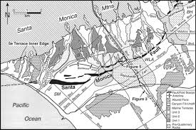 Map Of Santa Monica Late Quaternary Activity And Seismic Potential Of The Santa Monica
