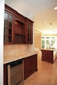 Dark Cherry Kitchen Cabinets Traditional Medium Wood Cherry Kitchen Cabinets With Black