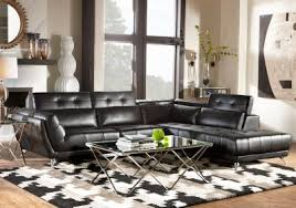Sectional Sofas Rooms To Go by Novello Black 2 Pc Sectional Living Room Sets Black