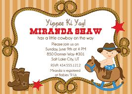 baby shower invitations astounding cowboy baby shower invitations