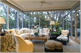 interior sunrooms decorating ideas with white upholstery sofa
