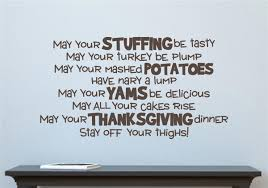 words from thanksgiving letters may your stuffing be tasty thanksgiving vinyl decal wall stickers