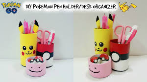 diy desk organizer diy pokemon go diy pen holder with cardboard