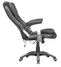 reclining 6 point massage faux leather office desk table computer