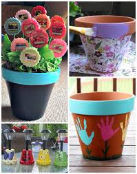 flower pot gift ideas for mother u0027s day crafty morning