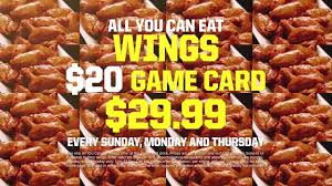 Kfc All You Can Eat Buffet by Dave U0026 Buster U0027s All You Can Eat Wings 20 Power Card Only