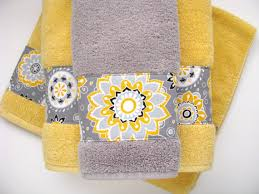 Yellow And Gray Bathrooms - yellow grey gray bathroom towels hand towels towel yellow