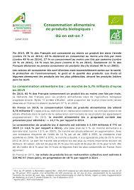 Consommation De Produits Bio Dans Calaméo Ab Consommation Bio En