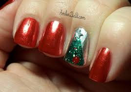 amber did it oh christmas tree nails
