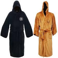 robe de chambre wars wars jedi sith adulte polaire peignoir à capuche cape