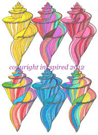 seashells coloring page beautiful seashells coloring page for