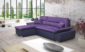 canapé violet convertible canapé d angle convertible en cuir tissus chez http