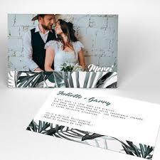 faire part de remerciement mariage carte de remerciement mariage personnalisée faire part