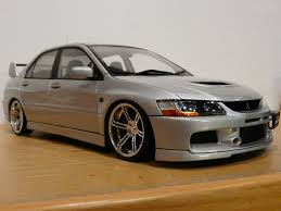 modified mitsubishi dc toys mitsubishi evo ix autoart 1 18 with modified rims