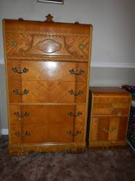 1947 birch art deco waterfall bedroom set for sale antiques com