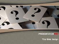 question mark cards powerpoint template background in business
