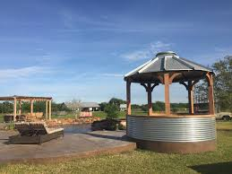 grain bin gazebo round mott ranch pinterest yards garden