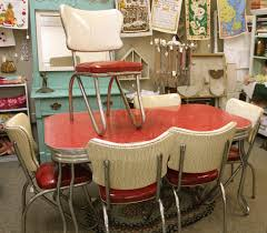 Retro Red Kitchen Chairs - red retro kitchen table chairs when red become a decoration