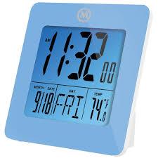 bureau num駻ique horloge de bureau numérique de marathon bleu horloges best